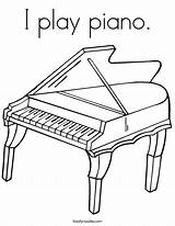 Coloring Piano Play Keyboard Pages Drawing Noodle Twistynoodle Twisty Outline Grand Cursive Pianos Printable Worksheets Keys Note Built California Usa sketch template