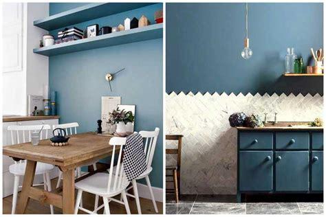 Osez Une Dco Couleur Bleu Canard Best Cuisine Blanche Mur Bleu Canard Images