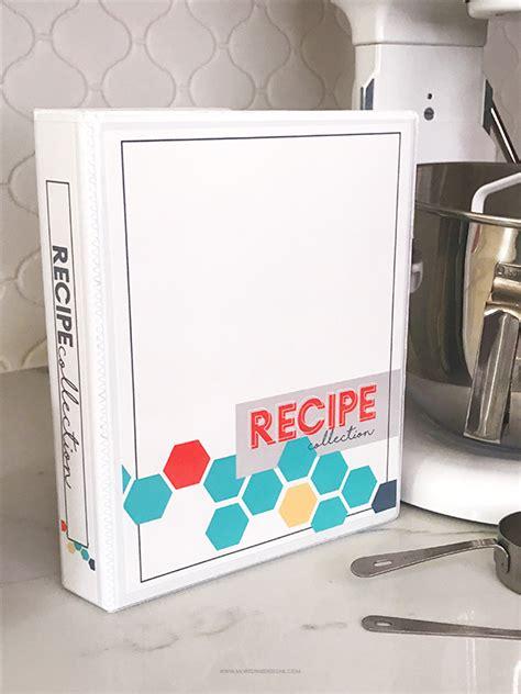 diy printable recipe binder kit  printables included