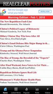 6 great apps fo... Realclearpolitics