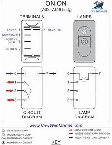 3 Wire Rocker Switch Wiring Diagram