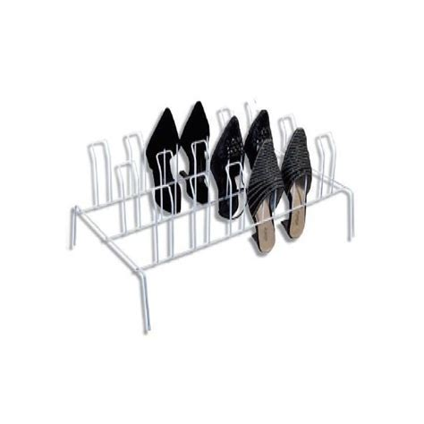 Shoe Rack 9 Pair White Wire from Storage Box