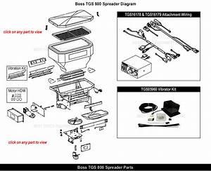 Boss Tgs800 Salt Spreader Parts  U0026 Parts Exploded View Diagram