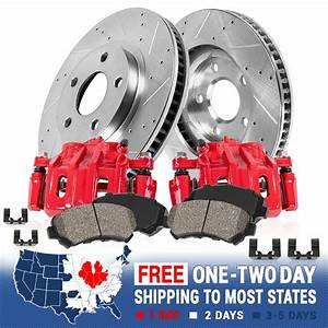 Rear Red Brake Calipers And Rotors   Pads Ford Explorer