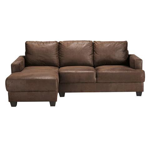 canapé d angle paiement en plusieurs fois canapé d 39 angle gauche 3 4 places en suédine marron