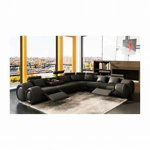 canape d39angle cuir noir positions relax oslo ang achat With tapis enfant avec canapé relax marque allemande