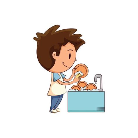 wash the dishes clipart royalty free washing dishes clip vector images