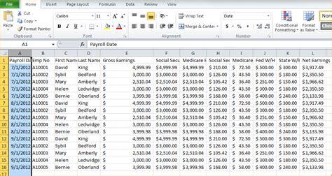 payroll spreadsheet  secure paystub