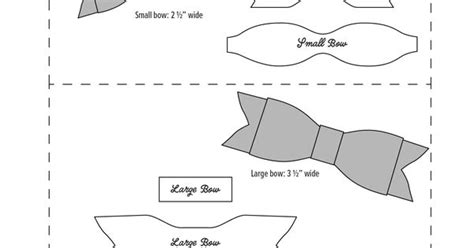 leather bow template free no sew leather or felt bow template at www rsherwooddesign renee sherwood