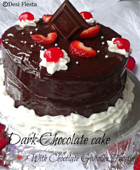 A birthday party wouldn't be complete without the perfect cake. Eggless Dark chocolate cake with chocolate ganache ...