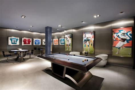 billiards balls sports bar family room transitional with sub zero
