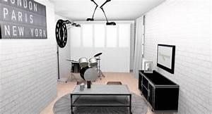 deco chambre ado papier peint visuel 4 With papier peint chambre ado