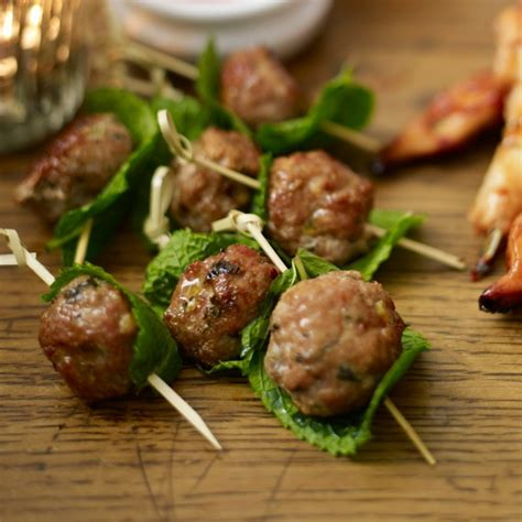 freezable canapes pork balls and home
