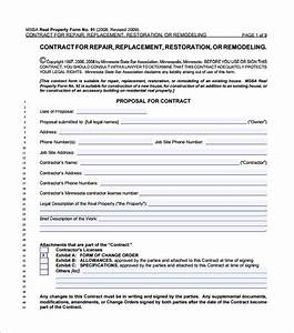 Home remodeling contract 10 download free documents in pdf for Simple remodeling contract