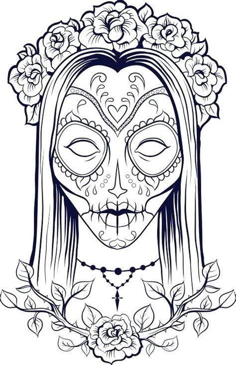 printable skull coloring pages  kids