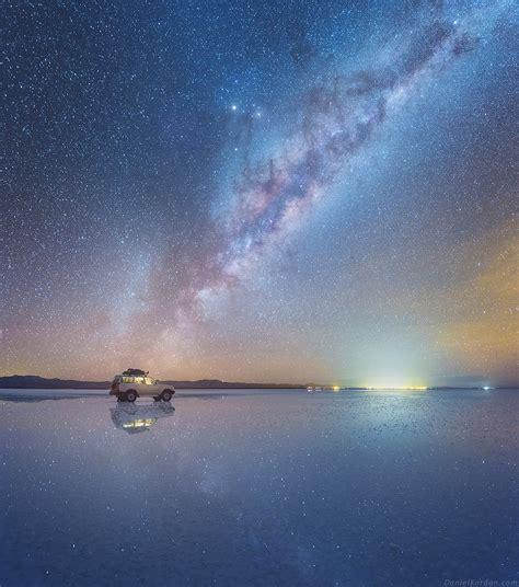chambre d h e montpellier la voie lactée se reflète dans le plus grand désert salé