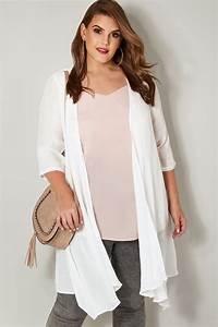 white woven cardigan with waterfall front plus size 16 to 36 With 30 up label size