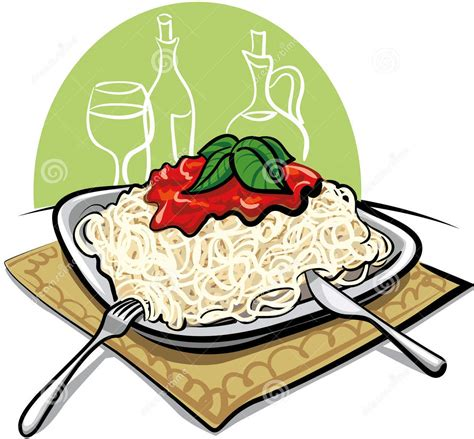 Spaghetti Dinner Clip Clipart Images Of Pasta Dinner Food Clipart Collection