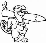 Coloring Beavers Beaver Coloringsun Depuis Enregistrée sketch template
