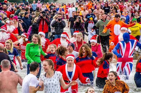 boxing day pictures redcar boxing day dip 2014 gazette live