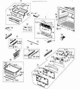 Parts For Samsung Rfg298aars  Xaa  Freezer Parts