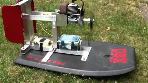 Rc Fan Boat Plans by Boogie Board Airboat Engine Start