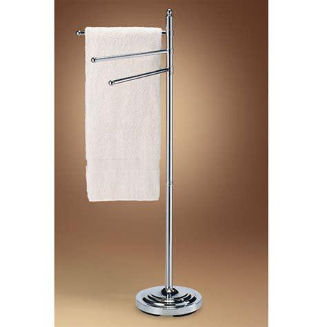 chrome floor standing three ring towel rack gatco rings