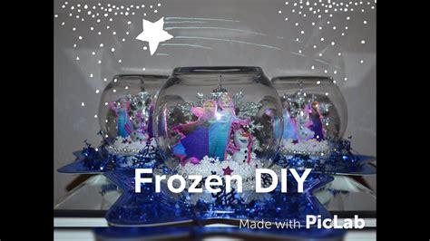 dollar tree frozen party centerpiece diy easy snow globe