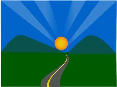 Future Bright Clipart Landscape Clip Sunrise Svg