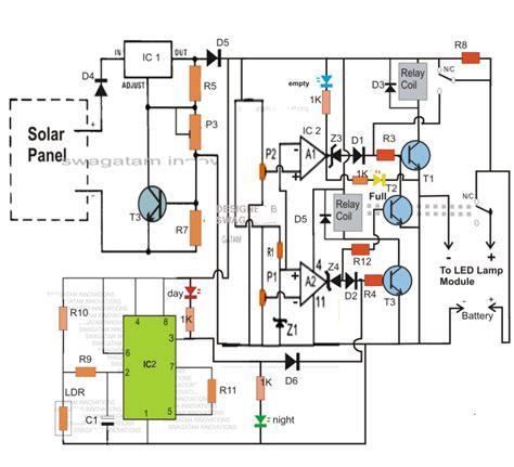 automatic 40 watt led solar light circuit project