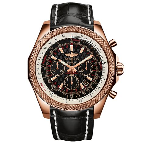 bentley breitling breitling for bentley b06 18ct red gold 49mm black leather