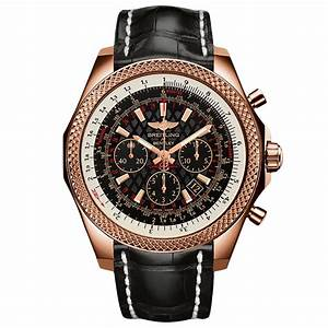 Breitling for Bentley B06 18ct Red Gold 49mm Black Leather ...