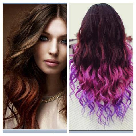 Purple Ombre Hair Crazy Hair Pinterest