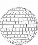 Disco Ball Silhouettes Outline Coloring Silhouette Pages Vector Drawing Svg sketch template