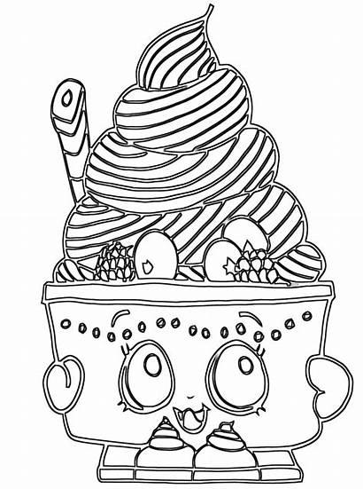 Shopkins Coloring Pages Cartoon Coloringway