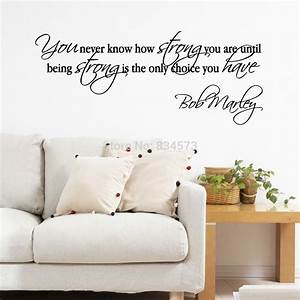 bob marley quotes motivational wall art sticker decal diy With inspiratinal bob marley wall decals