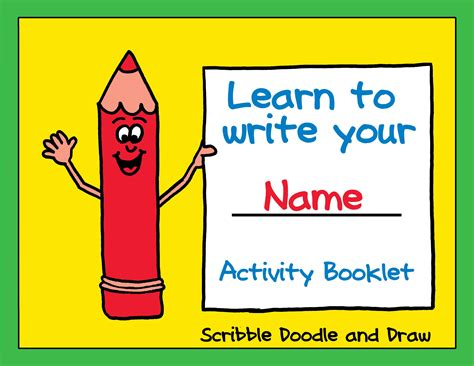 learn to write your name activity booklet kindergarten