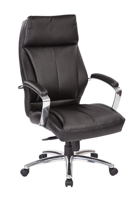 deluxe high back executive black bonded leather chair
