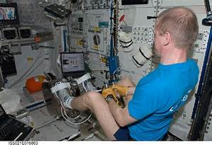 OHB System ENG - ISS astronauts working out on the OHB ...