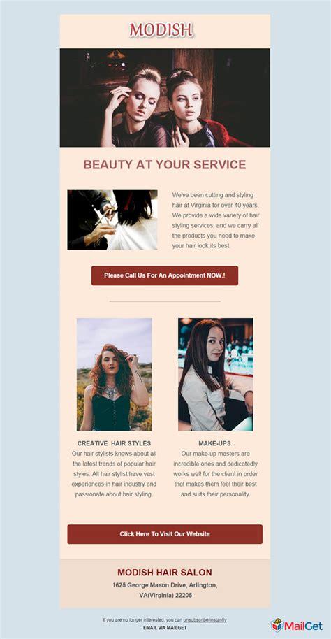 10 Best Free Hair Salon Email Newsletter Templates Mailget