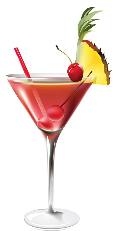 Drink Clip Cocktail Clipart Transparent Pencil And In Color