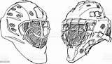 Hockey Helmet Ice Goalkeeper Sketch Helmets Vector Illustration Eps V8 Drawn Included Transparent Hi Res sketch template