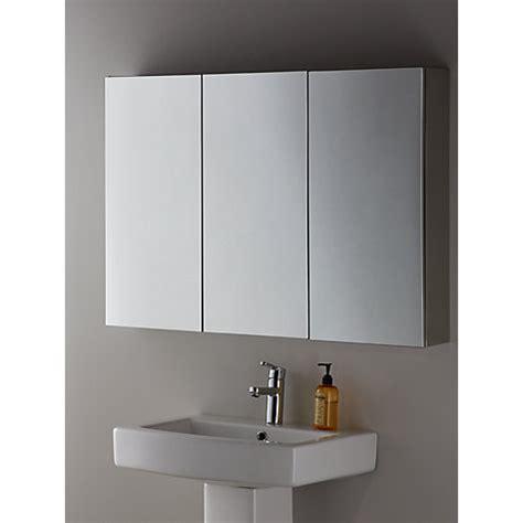 buy john lewis triple mirrored bathroom cabinet john lewis