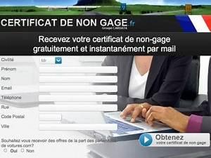 Certification De Non Gage : certificat de non ~ Maxctalentgroup.com Avis de Voitures