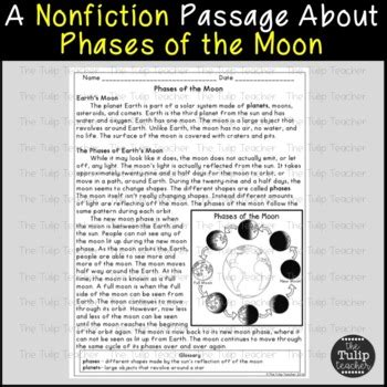 solar system  phases   moon reading