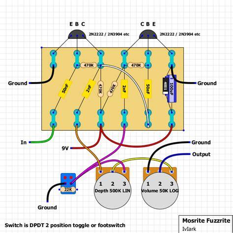 guitar fx layouts mosrite fuzzrite