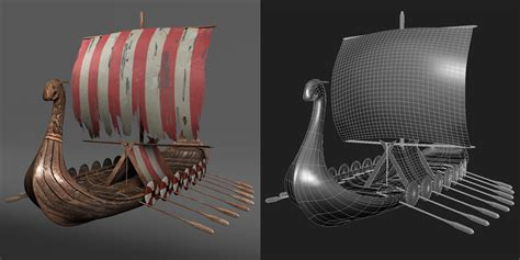 Viking Longboat Model by Beyondtime Airc