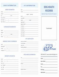 printable puppy vaccination record 4k wallpapers With dog health record template