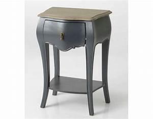 Table De Chevet Blanc Et Bois : table de nuit baroque gris amadeus pas chere ~ Teatrodelosmanantiales.com Idées de Décoration