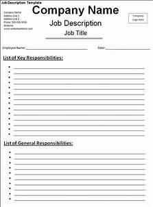 10 job description templates free word templates With how to create job description template